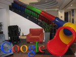 Google SF office slide