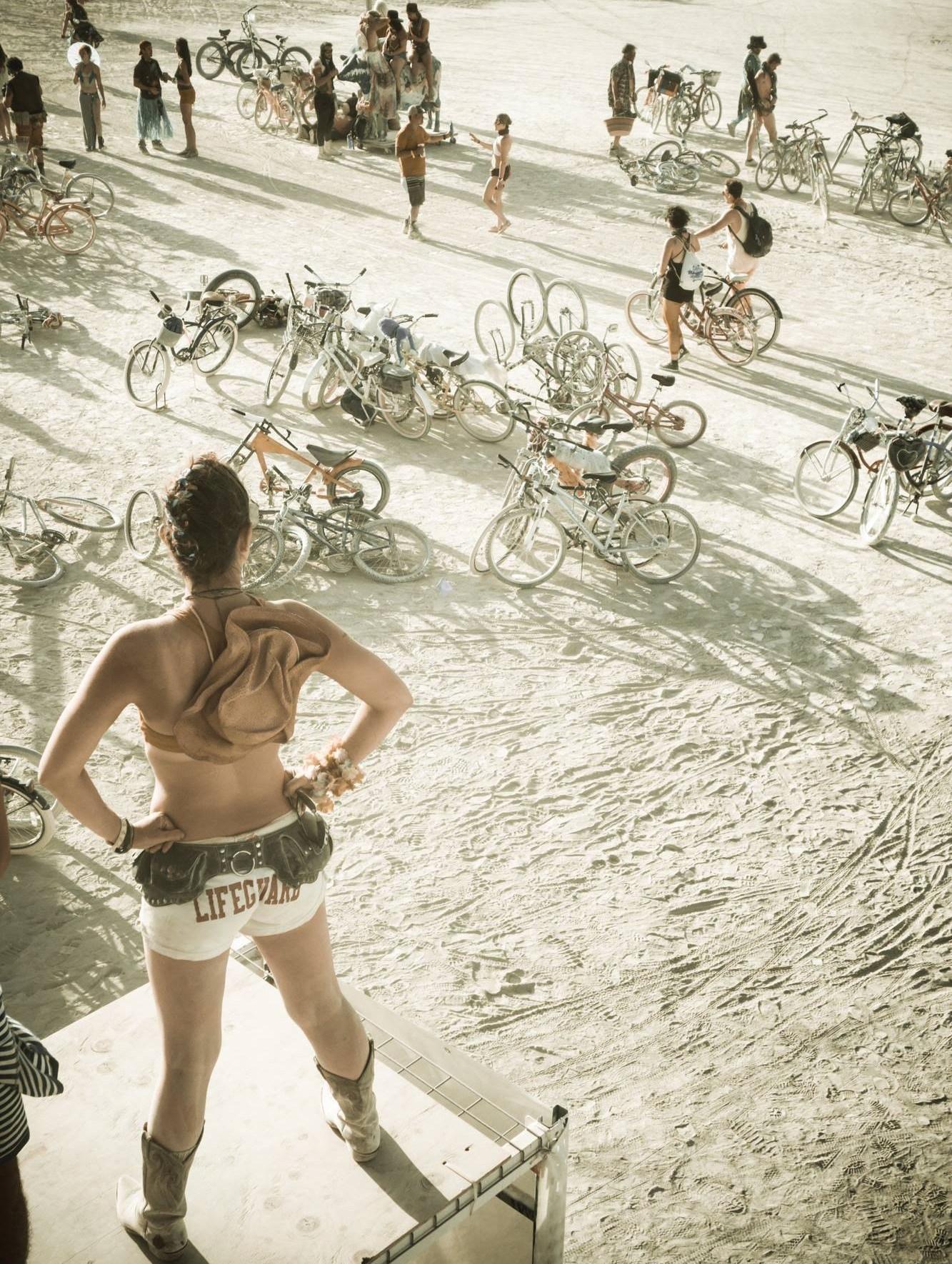Burning Man lifeguard pose2